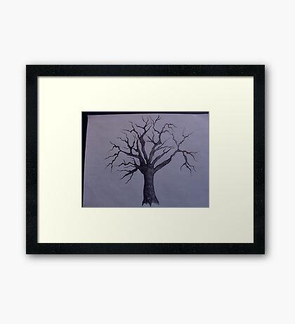 sared tree Framed Print