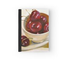 Still Life in Red and White...Cherries.. Hardcover Journal