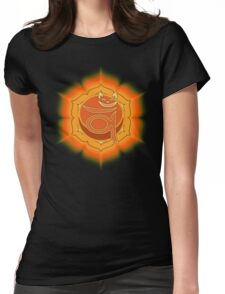 Lucky's Navel Chakra Womens Fitted T-Shirt