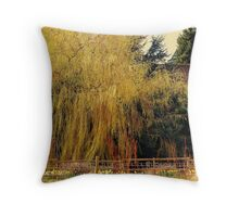 Willow at Bradlegh Old Hall Throw Pillow