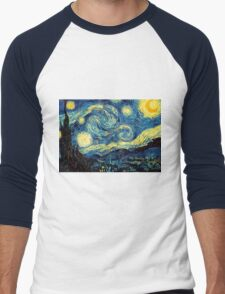 Vincent Van Gogh - Starry night  Men's Baseball ¾ T-Shirt