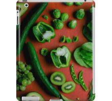 Green food on red iPad Case/Skin