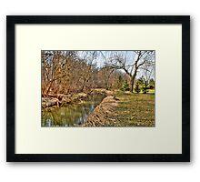 Creek Bend Framed Print