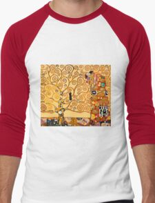 Gustav Klimt - The tree of life Men's Baseball ¾ T-Shirt