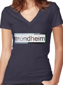 Trondheim Women's Fitted V-Neck T-Shirt