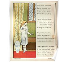 The Glad Year Round for Boys and Girls by Almira George Plympton and Kate Greenaway 1882 0066 I Cannot Go to Sleep Poster