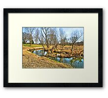 Meandering Creek Framed Print