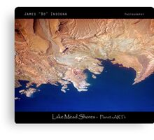 Lake Mead Shores - Planet eARTh Canvas Print