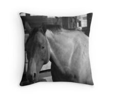 BW study of a Beauty Throw Pillow