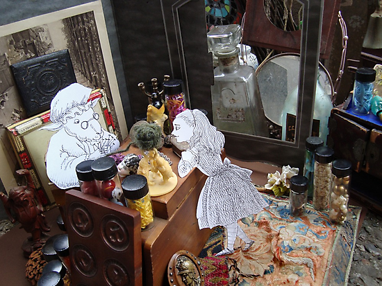 Alice in The White Sheep's Shop by SusanSanford