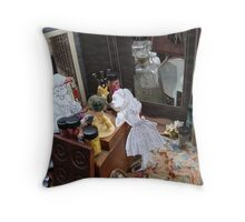 Alice in The White Sheep's Shop Throw Pillow