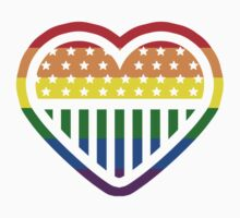 Rainbow Heart USA American Gay Homosexual Lesbian by crunchyparadise