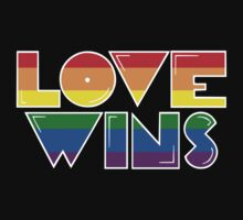 Love Wins Rainbow Gay Homosexual Lesbian by crunchyparadise