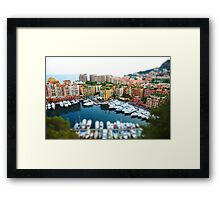 Monaco Miniature Framed Print