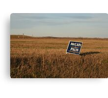 politics in the heartland Canvas Print