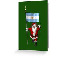 Santa Claus Visiting Argentina Greeting Card