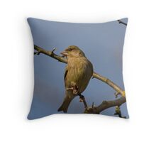 Female Greenfinch Throw Pillow