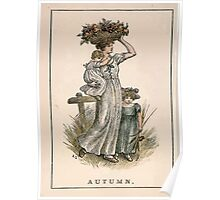 Kate Greenaway Almanack 1893 0036 Autumn Poster