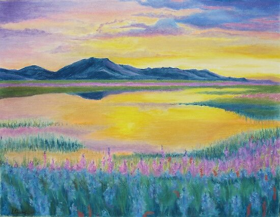 Prairie in Bloom by Leslie Gustafson