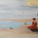 Lady by the shore by Phyllis Frameli