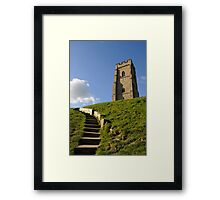 St Michael's Tower, Glastonbury Tor, Somerset, UK Framed Print