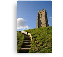 St Michael's Tower, Glastonbury Tor, Somerset, UK Canvas Print
