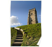 St Michael's Tower, Glastonbury Tor, Somerset, UK Poster