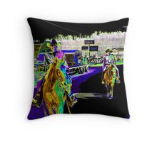 Cowboys Dream in color Throw Pillow