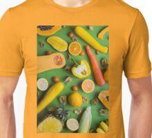 Yellow food on green Unisex T-Shirt