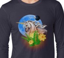 White Unicorn, Alien World Long Sleeve T-Shirt
