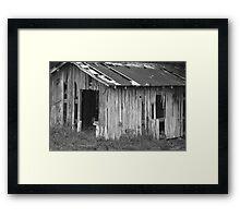 Old Barn BW Framed Print