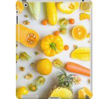 Yellow food on white iPad Case/Skin