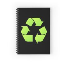 Recycle Symbol by Chillee Wilson Spiral Notebook