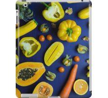 Yellow food on blue iPad Case/Skin