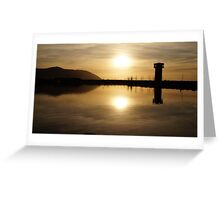 The Wetlands at Sunset Greeting Card
