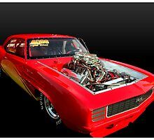 1969 Red Camaro RS Pro-Street Dragster by TeeMack