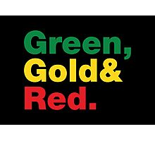 Green, Gold & Red. Photographic Print