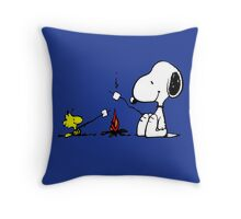Snoopy and Woodstock Marshmallow Throw Pillow