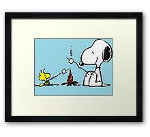 Snoopy and Woodstock Marshmallow Framed Print