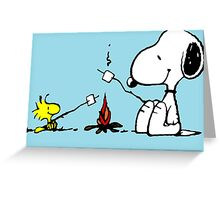 Snoopy and Woodstock Marshmallow Greeting Card