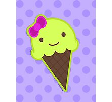 Frozen Kawaii in a Cone Photographic Print