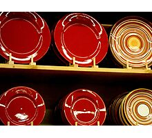 Circles in red  ^ Photographic Print