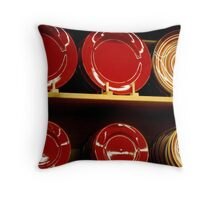 Circles in red  ^ Throw Pillow
