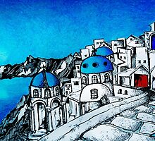 SANTORINI BLUE by artbyali81