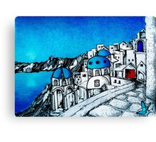SANTORINI BLUE Canvas Print