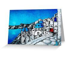 SANTORINI BLUE Greeting Card