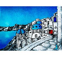 SANTORINI BLUE Photographic Print