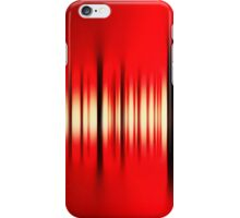 Black line on red iPhone Case/Skin