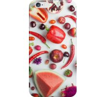 Red food on white iPhone Case/Skin