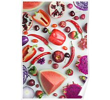Red food on white Poster